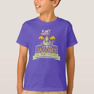 Camiseta 5o T CUSTOMIZÁVEL do GRÁFICO do dinossauro do