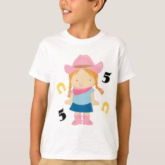 Camiseta 5o Vaqueira do aniversário