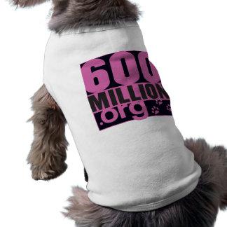 Camiseta 600 milhão doggy T feminino!
