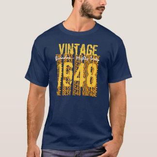 Camiseta 60-69 vintage 1948 do presente de aniversário o