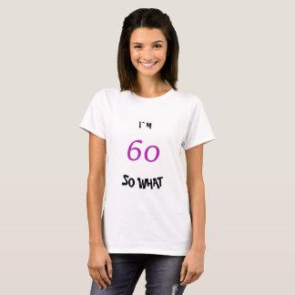 Camiseta 60th Aniversário para ela engraçada