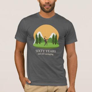 Camiseta 60th Aniversário sessenta anos e golfe ainda de