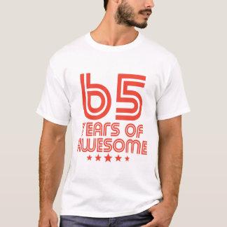 Camiseta 65 anos de 65th aniversário impressionante