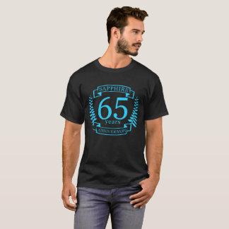 Camiseta 65th SAFIRA do ANIVERSÁRIO de casamento