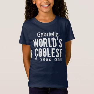 Camiseta 6o A criança de 6 anos a mais fresca V26 do mundo