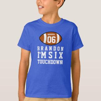 Camiseta 6o Aniversário com nome feito sob encomenda 4 do