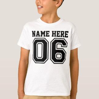 Camiseta 6o Aniversário (o nome customizável do miúdo)