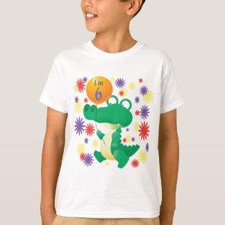 Camiseta 6o Jacaré do aniversário