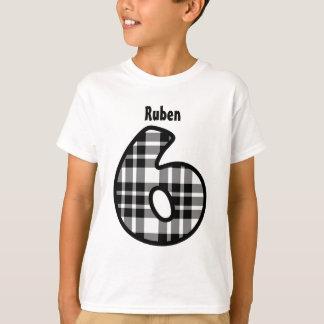 Camiseta 6o Nome feito sob encomenda V01 da XADREZ do PRETO