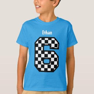 Camiseta 6o Nome feito sob encomenda verificado menino A03