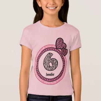 Camiseta 6o Teste padrão de bolinhas V03 da zebra do