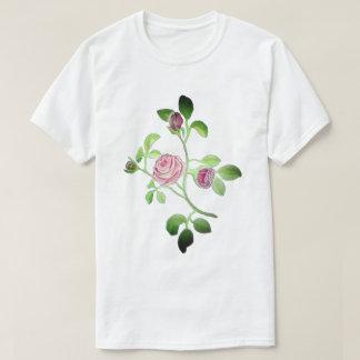 Camiseta 6x mais o t-shirt do branco do rosa do rosa do