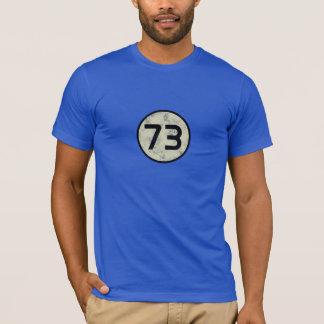 Camiseta 73 - O melhor número - azul marinho