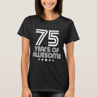 Camiseta 75 anos de 75th aniversário impressionante