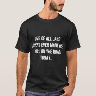 Camiseta 75% de todos os vagabundos da terra