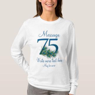 Camiseta 75th aniversário elegante personalizado do