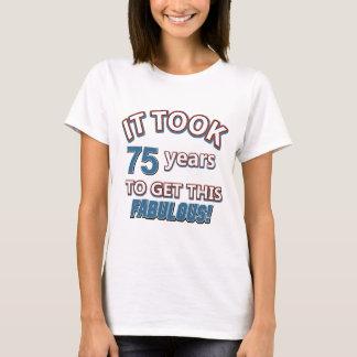 Camiseta 75th design do aniversário do ano