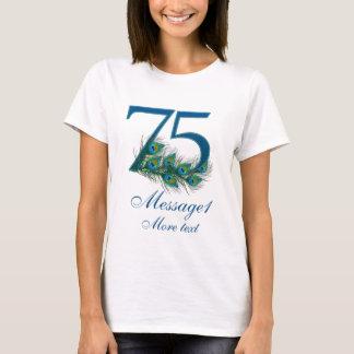 Camiseta 75th t-shirt personalizado do aniversário de