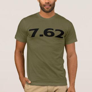 Camiseta 7,62 milímetros de munição da arma