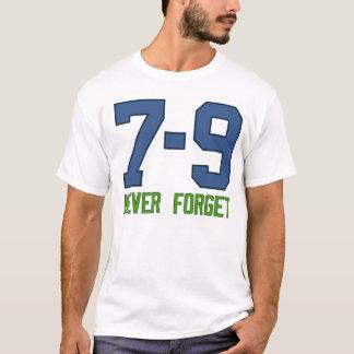 Camiseta 7-9. Nunca esqueça