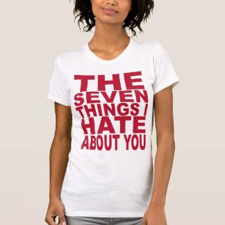 Camiseta 7 coisas que eu deio sobre você