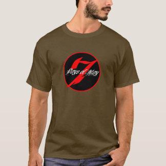 Camiseta 7 dias de podem o logotipo redondo T