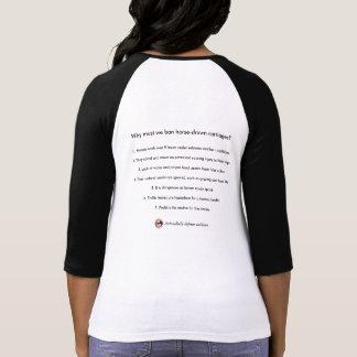Camiseta 7 razões: Por que devemos nós proibir carruagems