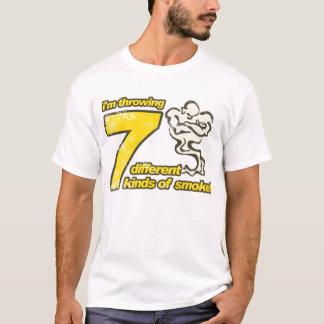 Camiseta 7 tipos do t-shirt do fumo