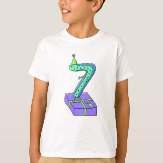Camiseta 7o Desenhos animados do aniversário