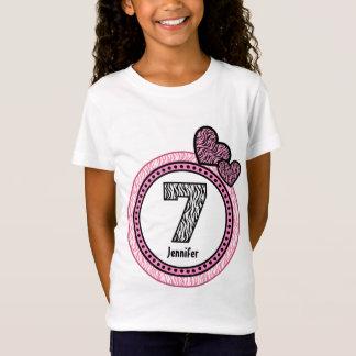Camiseta 7o Teste padrão de bolinhas V03C da zebra do