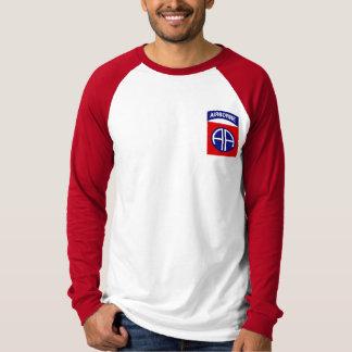 Camiseta 82nd T longo da luva da divisão aerotransportada
