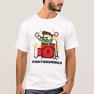 Camiseta 8 Bits Bateria Bit Drummer Geek