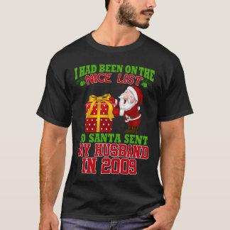Camiseta 8o Presentes do aniversário para a esposa no Xmas
