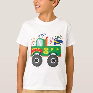 Camiseta 8o T-shirt do monster truck do aniversário