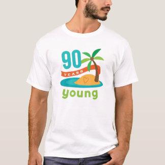 Camiseta 90 anos de presente de aniversário novo
