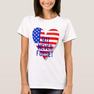 Camiseta 911 nunca esqueça o t-shirt