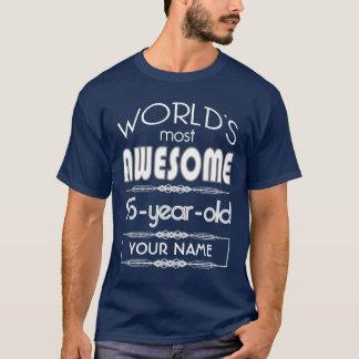 Camiseta 95th Do aniversário dos mundos azul escuro