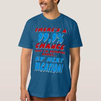 Camiseta 99,9% As PRÓXIMAS FÉRIAS (brancas)