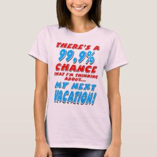 Camiseta 99,9% As PRÓXIMAS FÉRIAS (preto)