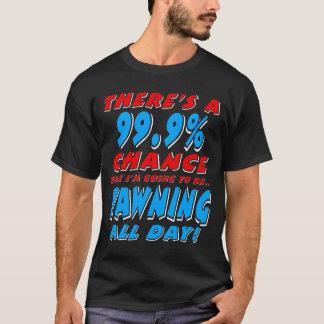 Camiseta 99,9% BOCEJAR O DIA INTEIRO (branco)