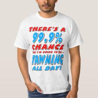 Camiseta 99,9% BOCEJAR O DIA INTEIRO (preto)