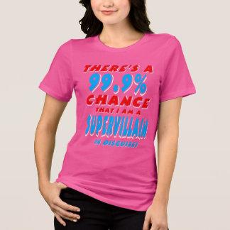Camiseta 99,9% Eu sou um BANDIDO SUPER (branco)