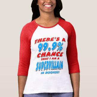 Camiseta 99,9% Eu sou um BANDIDO SUPER (o preto)