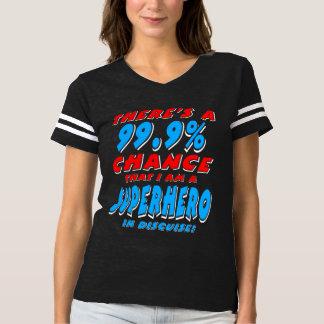 Camiseta 99,9% Eu sou um SUPER-HERÓI (branco)