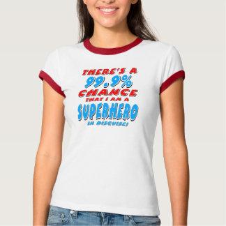Camiseta 99,9% Eu sou um SUPER-HERÓI (o preto)