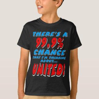 Camiseta 99,9% UNIDO (branco)
