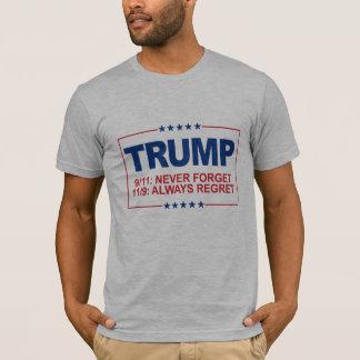Camiseta 9-11 nunca esqueça - sempre o pesar 11-9 -