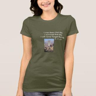 Camiseta 9/11 que eu sobrevivi mas não esquecerei