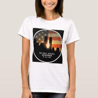 Camiseta 9-11 recorde - nós nunca esqueceremos