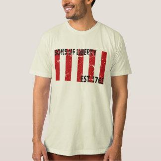 Camiseta 9 filhos descascados da bandeira da liberdade